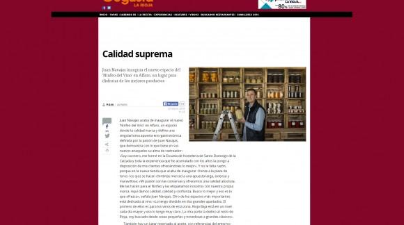 Diario La Rioja visita nuestras nuevas instalaciones